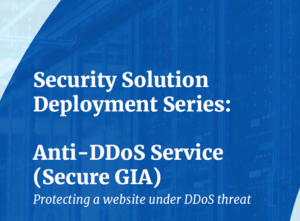 Security Solution Case Study Anti DDoS